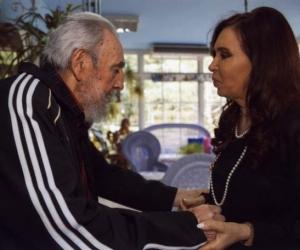 Recibió Fidel a la presidenta argentina Cristina Fernández