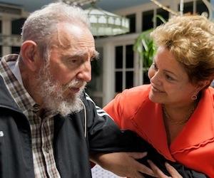 Sostiene Fidel encuentros con Dilma Rousseff y Portia Simpson