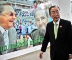 Ban Ki-moon visita la Escuela Latinoamericana de Medicina en La Habana