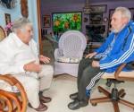 Amistoso encuentro de Fidel con José Mujica