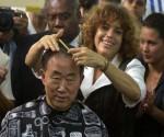 Josefina, la cubana que peló a Ban Ki-moon