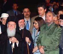 Llegada de Su Toda  Santidad Bartolomeo, Patriarca Ecuménico, foto oficial en el Palacio de la Revolución y conversaciones oficiales.(foto:Juvenal B alán) 21.01.04 LLEGADA01I0